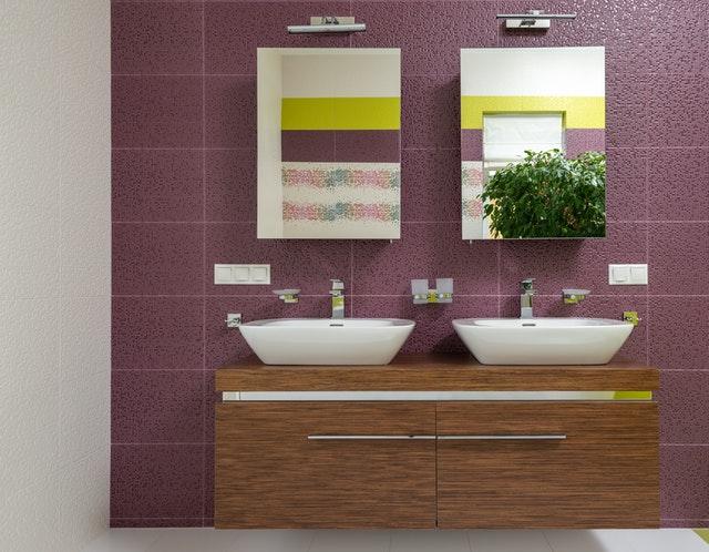 sfeer in badkamer met plant